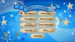 The Game Selection screen is what you can safely think of as the High School Musical DVD Game's main menu, or at least your portal to all of the activities.