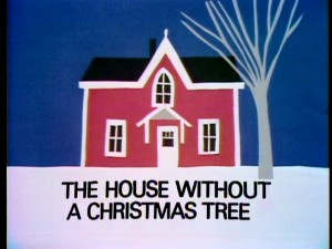 "The title screen for ""The House Without a Christmas Tree"" is the first of many construction paper collages that serve as transitions to and from commercial break. Norman Sunshine would eventually win an Emmy for the collages on the sequel ""Addie and the King of Hearts."""