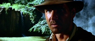 Indiana Jones (Harrison Ford) dramatically makes his first appearance to the audience.