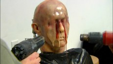 The melting face effect is recreated and explained step by step.