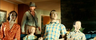 Indiana Jones wonders, Wasn't your typical 1950s family a little livelier than this? Maybe Harrison Ford's huge salary meant scrimping on extras.