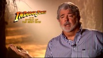 "Indiana Jones creator/writer George Lucas discusses one title considered (Indiana Jones and the Attack of the Giant Ants) in ""The Return of a Legend."""