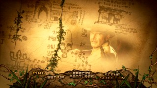 Disc 1's main menu gives a little more visual spice than your run-of-the-mill montage.