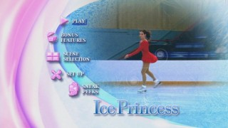 "A still from the animated ""Ice Princess"" main menu"