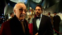 There to film his requisite cameo, Stan Lee gives some acting advice to Robert Downey Jr. in the DVD's Easter egg.