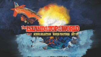 The Island at the Top of the World DVD Main Menu.
