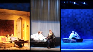 "Images of the Off-Broadway play from which three-fourths of the leading cast hails are seen in ""From the Stage to the Big Screen."""