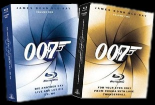 James Bond Blu-ray Collection, Volumes 1 & 2 cover art - click to buy