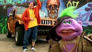Indeterminate purple animal Peanut and Jeff Dunham rock out in some cool clothes, as puppet and ventriloquist are separated.