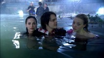 "Megan Fox, Johnny Simmons, and Amanda Seyfried share each other's thoughts and company on (or, rather, in) the set for ""Jennifer's Body: The Dead Pool."""