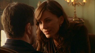Krista Allen plays Cissy, Hasty Hathaway's newly-introduced ex-wife, who gently tries to seduce Jesse Stone.