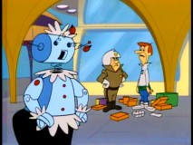 As Rosie the robot bugs out, George gets the blame for shoplifting.