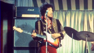 "Legendary musician Jimi Hendrix is the subject of the new documentary whose title -- ""Hendrix: The Guitar Hero"" -- seems to be a pretty transparent play for video game search traffic."