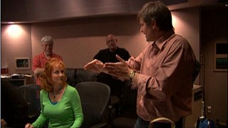 "Reba McEntire is seen here (in mint green), voicing Dixie for ""Fox and the Hound 2."""