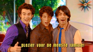 "Despite the fact that they're in school all day and never leave town, the Lucas Brothers (read: the Jonas Brothers) are international superstars, as evidenced by this foreign language ad seen in ""Beauty and the Beat"" (the first of two bonus episodes on the DVD)."