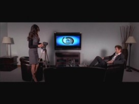 Kate sets up the camcorder for Steve's job interview in this deleted flashback scene.