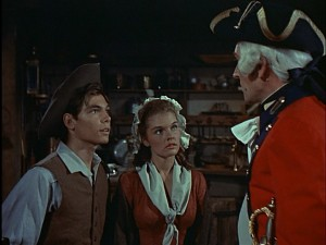 Look at Johnny Tremain (Hal Stalmaster) and Cilla (former Disney child star Luana Paten) look all important and patriotic.