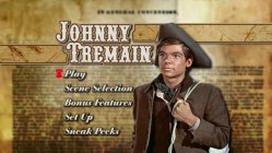 """Johnny Tremain""'s Main Menu"