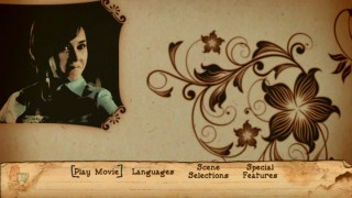 Amy Adams makes a proud face in the clip part of the DVD's sepia-toned, animated, cookbook-inspired main menu.