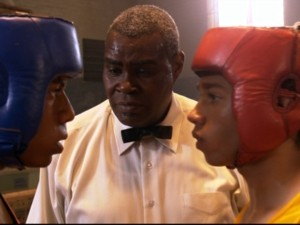 Rodney (Patrick Johnson, Jr.) faces off against Izzy in one of two boxing matches.