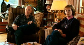 Juno's father (J.K. Simmons) and stepmother (Allison Janney) sit tensely as Juno prepares to give them the big news.