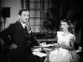 Walt Disney appears with Kathryn Beaumont, dressed as Alice, in one of Walt's earliest television specials.