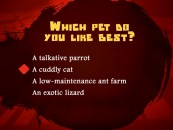 "Your pet preferences are just part of the personality profile quiz that answers the question ""What Fighting Style Are You?"""