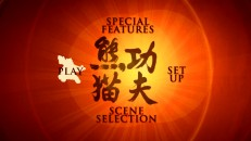Each disc's main menu opts for Po silhouettes and Chinese symbols.