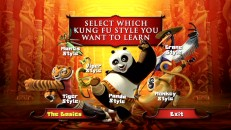 Do you Kung Fu? Choose from seven video options or just admire the colorful cast photo on the menu.