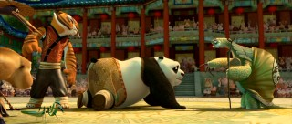 Master Oogway points at the new Dragon Warrior... and it's Po!