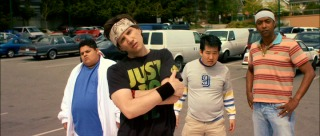 The Funky Fresh Boyz prepare to dance off with Ice Cole Crew in the Chim e Changa's parking lot.