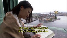 "From a clock tower high above Stockholm, Yui Natsukawa compares the Kiki's Delivery Service storyboards to the Swedish sites that inspired them in ""The Locations of Kiki."""