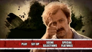 The Irishman cocks a pretend trigger on the DVD's stylish main menu montage.
