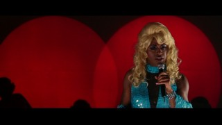 Lola (Chiwetel Ejofor) looks dishy in a blonde wig.