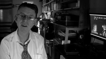 "In his video tribute, English writer/director Alex Cox counts his ""Repo Men"" among the films inspired by ""Kiss Me Deadly."""