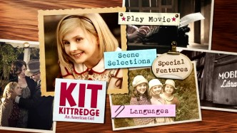 The Kit Kittredge DVD main menu takes a routine approach.