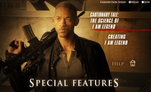 "Uh, something's not right here... A gun-toting Will Smith and ""I Am Legend"" extras is what the ""Go to DVD-ROM Special Features"" link took me to. Your mileage may vary once street date arrives."