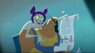 Yzma capitalizes on Kronk's dim-wittedness with her get-rich-quick scheme.
