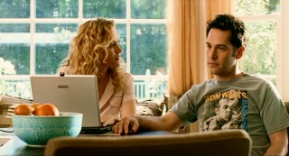 Debbie (Leslie Mann) is bothered that Pete (Paul Rudd) doesn't take the threat of local neighborhood sex offenders more seriously.