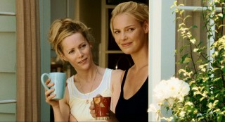 Debbie (Leslie Mann) is uncertain of Ben's worth, but Alison smiles at her baby's daddy's antics.