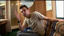 Jay Baruchel expresses his reluctance to ride a Knott's Berry Farm roller coaster in a Disc 1 featurette.