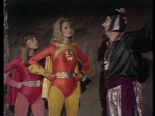 Who needs male superheroes when you've got the powerful duo of ElectraWoman (Deidre Hall) and DynaGirl (Judy Strangis)?