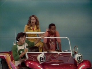 When the Schlepcar turns into Wonderbug, it transforms Barry (David Levy), Susan (Carol Anne Seflinger), and C.C. (John-Anthony Bailey) from merely cool youths to ice cold sky pilots.