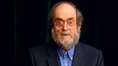 "Stanley Kubrick makes a rare ""public appearance"" via videotape in his acceptance speech for the Directors Guild of America's 1998 Lifetime Achievement Award."