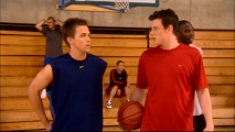 Declan (Chris Olivero) and Charlie (Cory Monteith) don't agree on Kyle being allowed to join their basketball team.