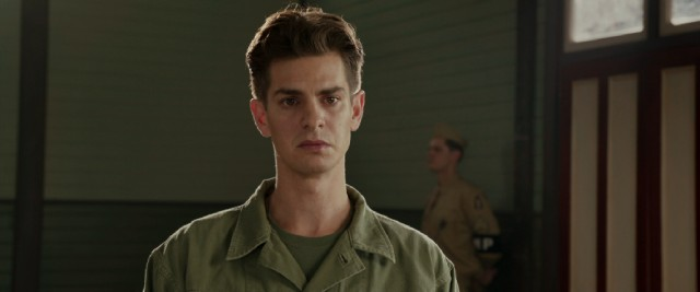 In the role that landed him his first Oscar nomination, Andrew Garfield plays Desmond Doss, a pacifist and conscientious objector who nonetheless served in the U.S. Army during World War II.