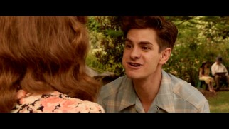 Desmond Doss (Andrew Garfield) talks with food in his mouth in this deleted picnic scene.