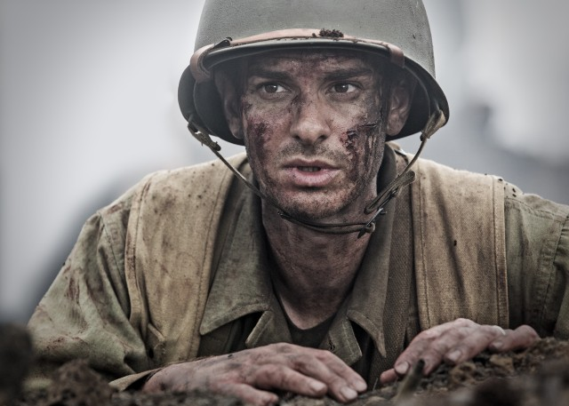 """Hacksaw Ridge"" stars Andrew Garfield as an Army medic Desmond Doss, who became the first decorated conscientious objector."
