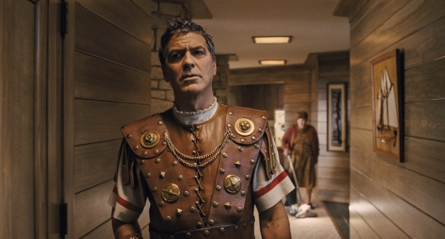 "George Clooney plays Baird Whitlock, a Hollywood movie star kidnapped and ransomed by Communist screenwriters in the Coen Brothers comedy ""Hail, Caesar!"""