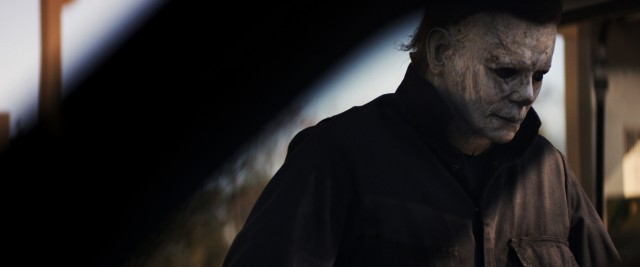 "Fitted with his old William Shatner mask and a gas station employee's coveralls, Michael Myers is back on his old bullshit in 2018's ""Halloween."""